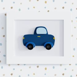 Quadro Caminhonete Azul 25cm