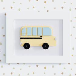Quadro Ônibus Escolar Amarelo 25cm