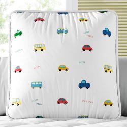 Almofada Quadrada Amiguinhos Carrinhos Coloridos 30cm
