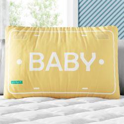 Almofada Retangular Baby Amarelo 35cm