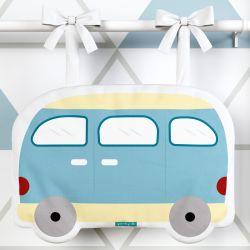 Porta Fraldas Ônibus Azul