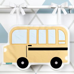 Porta Fraldas Ônibus Escolar Amarelo