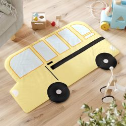 Tapete Ônibus Escolar Amarelo 89CM