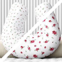 Almofada Amamentação Dupla Face Roseira Rosa