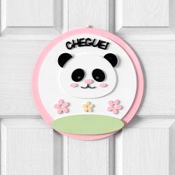 Porta Maternidade Personalizado Panda Floral Moderna