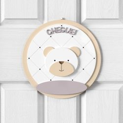 Porta Maternidade Personalizado Urso Branco Clássico