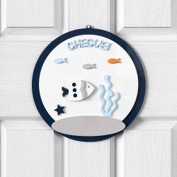 Porta Maternidade Personalizado Fundo do Mar