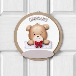 Porta Maternidade Personalizado Ursinho Vintage