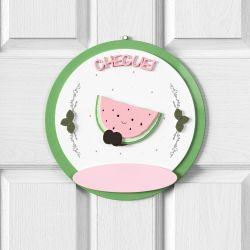 Porta Maternidade Personalizado Frutinhas