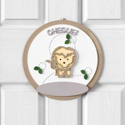 Porta Maternidade Personalizado Safári Baby