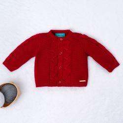 Casaquinho Tricot Elegante Vermelho