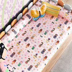Edredom Infantil Mini Cama Meninas do Mundo