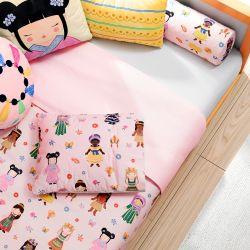 Jogo de Lençol Infantil Mini Cama Meninas do Mundo 3 Peças
