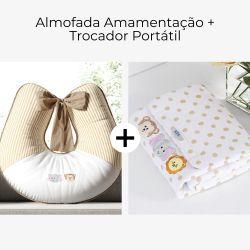 Almofada Amamentação + Trocador de Fraldas Amiguinhos Safári 2 Peças