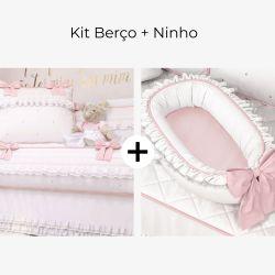 Kit Berço + Ninho para Bebê Redutor de Berço Princesa Clássica
