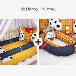 Kit Berço Toy Story Woody + Ninho para Bebê Redutor de Berço Toy Story Woody