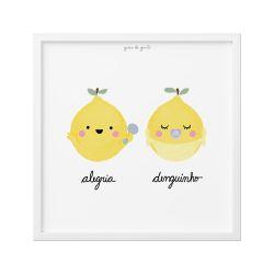Quadro Limão Siciliano Alegria e Denguinho 18cm
