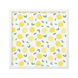 Quadro Limão Siciliano Amarelo e Branco 18cm