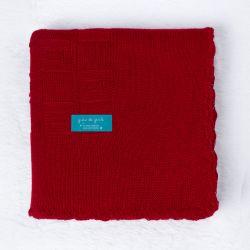 Manta Tricot Quadrado Perfeito Vermelho 80cm