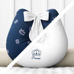 Almofada Amamentação Menino Príncipe Azul com Laço