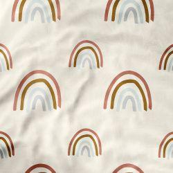 Lençol Berço com Elástico Arco-íris Boho