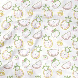 Lençol Berço com Elástico Frutinhas Colorido