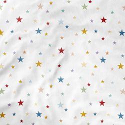 Lençol Berço com Elástico Estrela Colorido