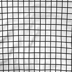 Lençol Berço com Elástico Quadriculado Preto e Branco