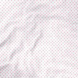 Lençol Berço com Elástico Petit Poá Branco e Rosa