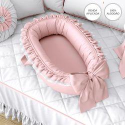 Ninho para Bebê Redutor de Berço Rosé Clássico 80cm
