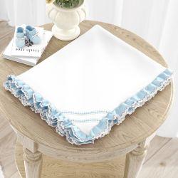 Cobertor Dupla Face com Soft Azul Clássico