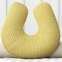 Almofada Amamentação Tricot Trança Amarelo