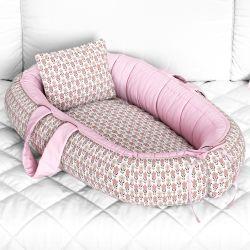 Ninho para Bebê Redutor de Berço Flor do Campo Rosa 80cm