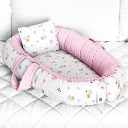 Ninho para Bebê Redutor de Berço Floral 80cm