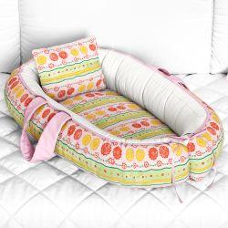 Ninho para Bebê Redutor de Berço Floral Étnico 80cm