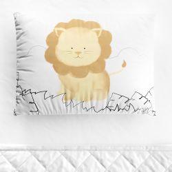 Fronha Bebê Amiguinho Leão Aquarela