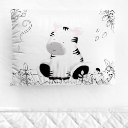 Fronha Bebê Amiguinha Zebra Aquarela