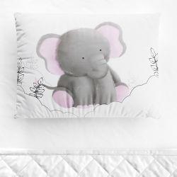 Fronha Bebê Amiguinho Elefante Aquarela