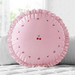 Almofada Redonda Cerejinhas Rosa 30cm