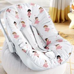 Capa de Bebê Conforto com Protetor de Cinto Bailarinas Baby