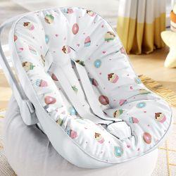 Capa de Bebê Conforto com Protetor de Cinto Docinho Colorido