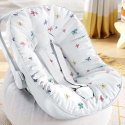 Capa de Bebê Conforto com Protetor de Cinto Borboletas