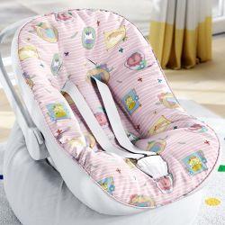 Capa de Bebê Conforto com Protetor de Cinto Safári Candy