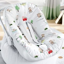 Capa de Bebê Conforto com Protetor de Cinto Macaquinho