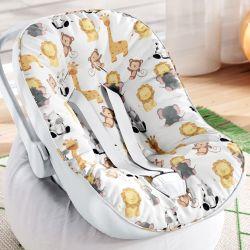 Capa de Bebê Conforto com Protetor de Cinto Safári Aquarela