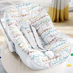 Capa de Bebê Conforto com Protetor de Cinto Trenzinho Piuí