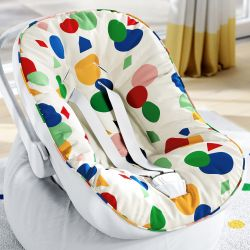 Capa de Bebê Conforto com Protetor de Cinto Colorido Geométrico Moderno