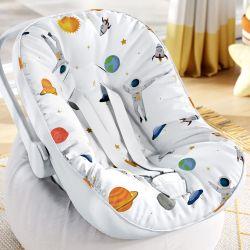 Capa de Bebê Conforto com Protetor de Cinto Astronautas