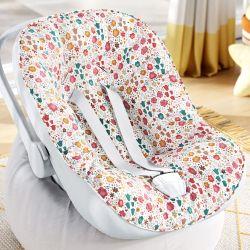 Capa de Bebê Conforto com Protetor de Cinto Flores