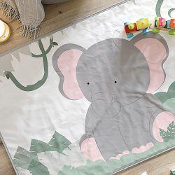 Tapete Retangular Amiguinho Elefante 61cm